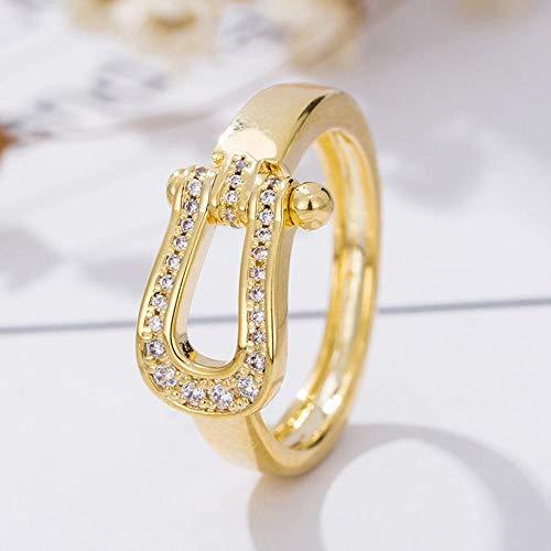 70e13cb8d46d Weiwei Uomini anello anelli S925 Plata Anillos circonio Dedo anular Apertura  Ajustable