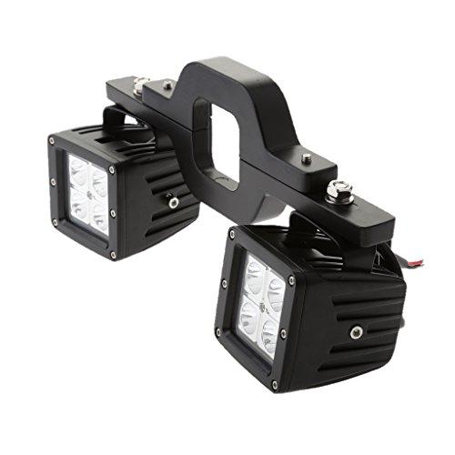 Dolity 2 x LED Auto Licht Geländefahrzeuge Beleuchtung Suchscheinwerfer + Halterung