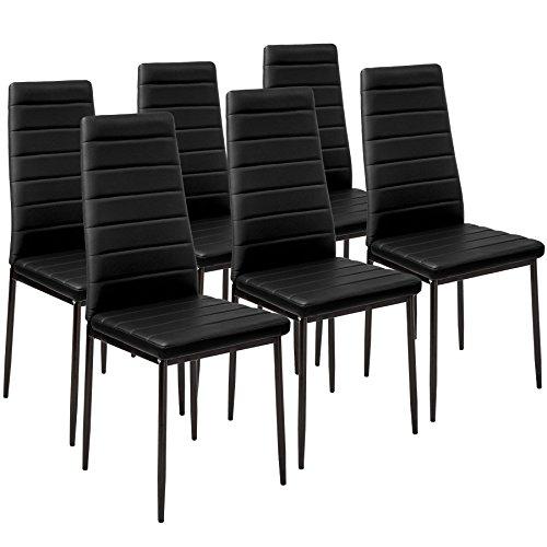 Opiniones tectake set de 6 sillas de comedor 41x45x98 5cm for Set sillas comedor