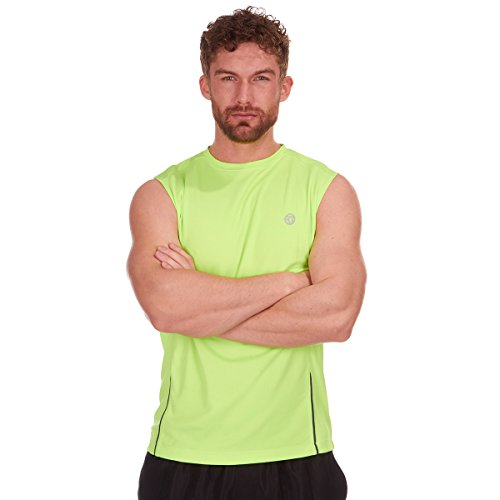 RED TAG Mens Vest (Sizes M-XXL) - Quick Drying Breathable Sleeveless Top For the Gym and Outdoor Sports