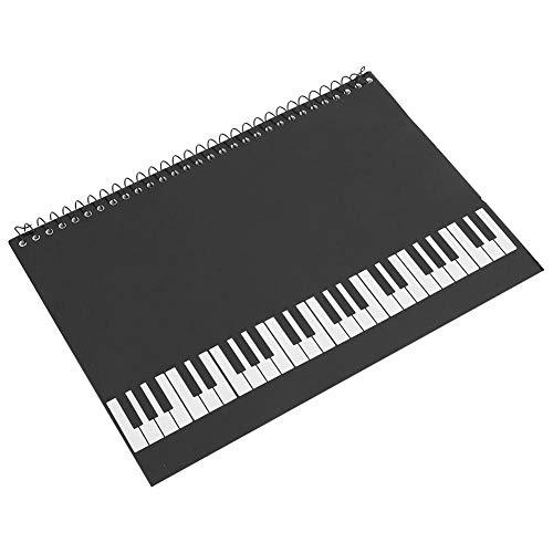Fafeims Stabheft, 50 Seiten Notenheft Notenmanuskript Briefpapier(Black Piano)