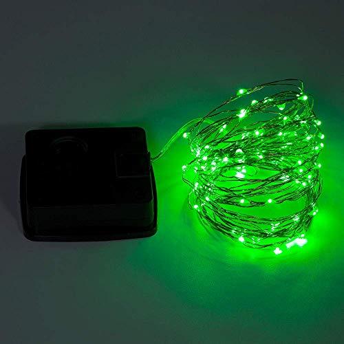 Lichterkette,FeiliandaJJ 5M 50pcs Wasserdichte Solar-Deko-Lichterkette LED Licht Hochzeit Party Halloween Xmas Innen/Außen Haus Deko String Lights (Grün)