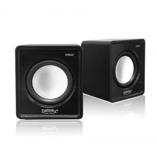 Zebronics Prime 2 2.0 Channel Multimedia Speakers (Black)