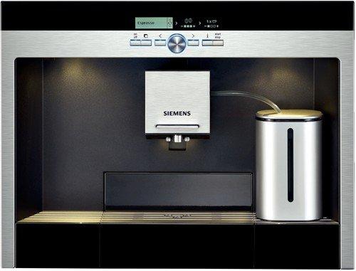 Siemens TK76K572 Kaffeemaschine - Kaffeemaschinen (Schwarz, Silber, LCD, Cappuccino, 2,5l, 19 Bar, 1,5m)