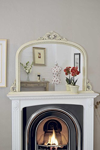 ornate-overmantle-ivory-mantle-crackle-design-wall-mirror-50-x-36