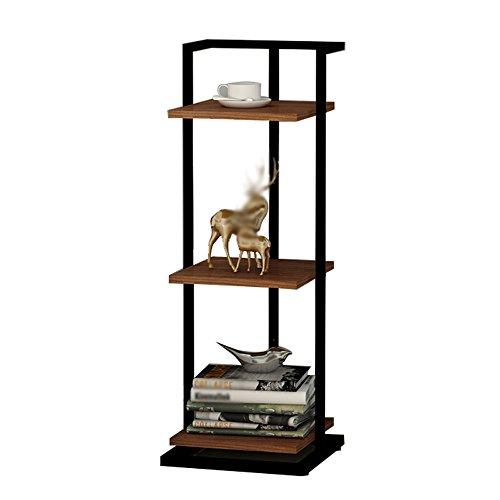 AJZGF Dreistöckiges Bücherregal in der Sitzecke Verstellbare Schlafzimmervitrine Nachtbücherregal, Größe 30 * 30 * 84 cm Regal (Farbe : 1#) (Verstellbare Regale Bücherregal)