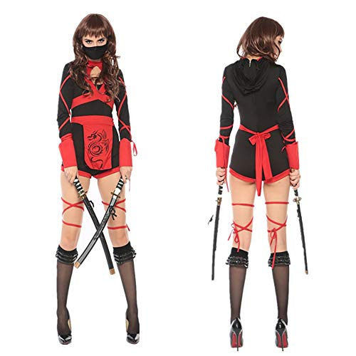 Japanese Bushido Ninja Kostüm Cosplay Samurai Anzug Ninja Cosplay Kostüm,M ()