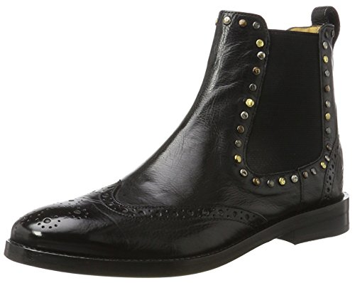 MELVIN & HAMILTON MH HAND MADE SHOES OF CLASS Damen Amelie 5 Chelsea Boots, Schwarz (Milano Rivets Mixed, Elast. Black, Ls Blk), 38 EU