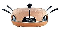 Silva Schneider PP 1060 Pizzadom mit TerraCotta Stein, 1000 Watt, 6 Pizzaheber Pizzaofen antihaft