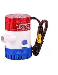 Pompe de cale 350/500/750/1100GPH 12V Plastique submersible de cale pompes à eau, 500GPH