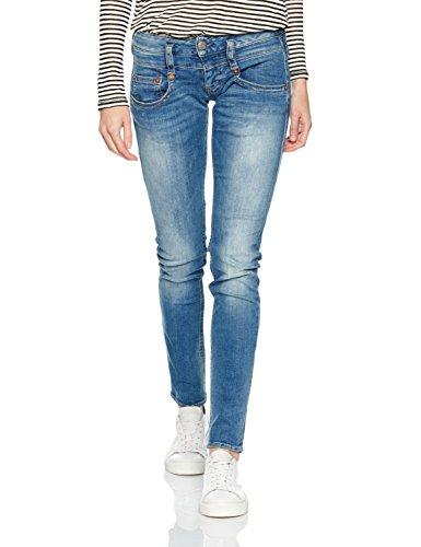 Herrlicher Damen Jeanshose Pitch Slim, Blau (Polo Blue 648), W27/L32 (Herstellergröße: 27)