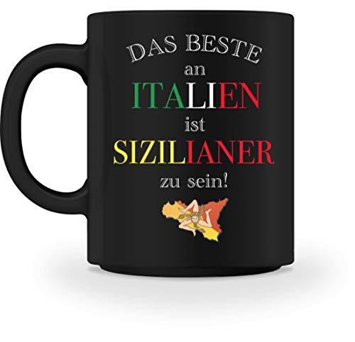 Hochwertige Tasse - Das beste an Italien ist Sizilianer zu sein, Sizilianer, Sizilien,