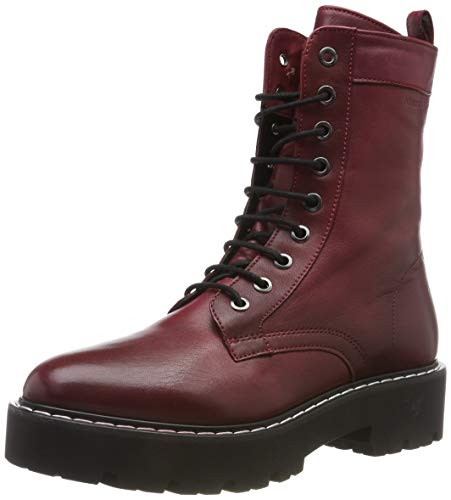 Marc O'Polo Damen 90715496301100 Stiefeletten, Rot (Bordo 375), 39 EU
