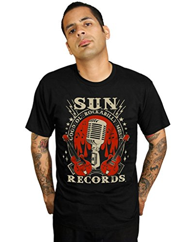 STEADY CLOTHING Rockabilly Music T-Shirt Homme, Noir, FR : 3XL (Taille Fabricant : XXXL)