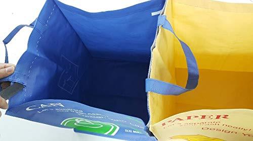 Recycling-Taschen Abfalltrenner mit praktischem Transportgriff Klettband Aufkleber Recycle Bins ...