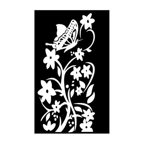 Yujum Tier-Blumen-Kunst-Wand-Aufkleber Kühlschrank Möbel Türtapete Schlafzimmer Innen Removable PVC-Abziehbilder -