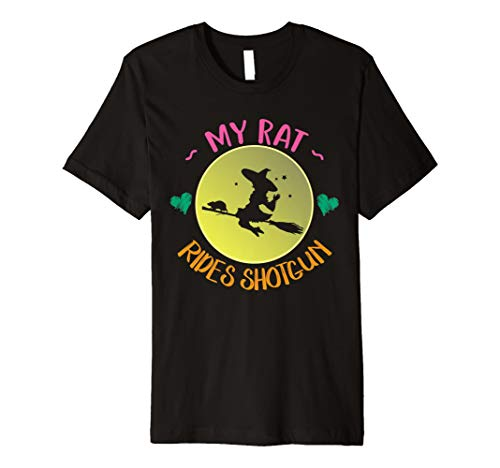 (My Rat Rides Shotgun T-Shirt | Halloween-Kostüm Geschenk)