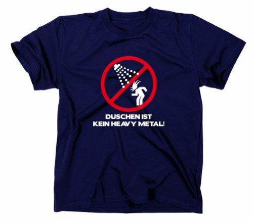 Douche n'est pas Heavy Metal Fun T-shirt, Wacken, Festival, Dixie Navy