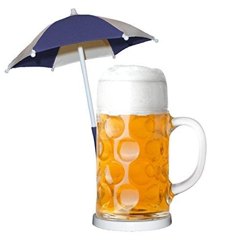 Preisvergleich Produktbild Bierschirmchen / Cocktailschirm / Eisschirmchen / Getränkeschirm - Blau 5er Set