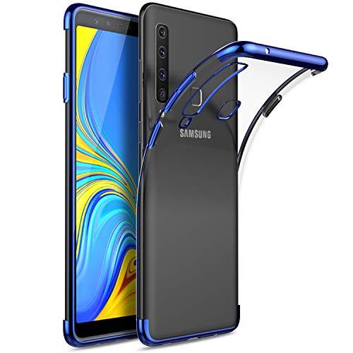 KuGi. Cover Samsung Galaxy A9 2018, Samsung Galaxy A9 2018 Custodia Trasparente Silicone Cover Morbida TPU Caso, Anti Scivolo& Anti-Urto Case per Samsung Galaxy A9 2018(Blu)