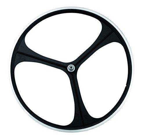 RMS Ruota Posteriore 3 Razze in Lega Aerowheels Trio Scatto Fisso Nero (Scatto Fisso) / Rear Wheel Alloy 3 Spokes Aerowheels Trio Fixed Bike Black (Fixed Wheel)