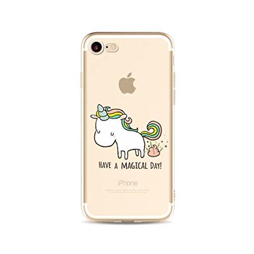 Coque pour iPhone SE/5/5S MUTOUREN haute qualité Soft TPU gel phone case Anti-choc Housse Etui 360 degrés Protection Anti Rayure phone Case Nouveau style- Rouge noir licorne et selles