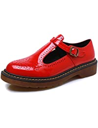 Smilun Chaussures Femme Mary Jane Boucle Basses Classic Bout Rond