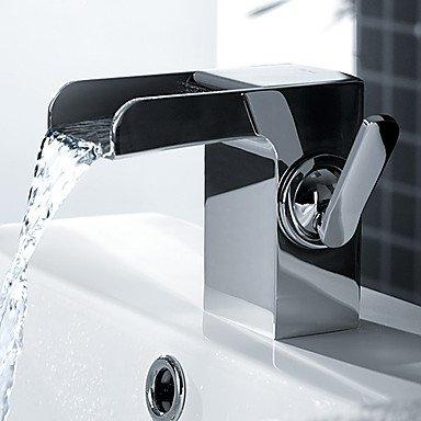 Lei Oil Rubbed Bronze Waterfall Spout Bathroom Sink Vessel Vanity Faucets Lavatory Mixer Tap Single Handle