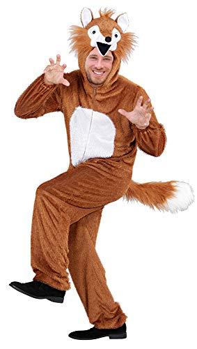 Das Kostümland Disfraz de Animal para Adultos: Divertido Disfraz de Carnaval, Ballet Masculino, Fiesta temática y Despedida de Soltero (Zorro, XL)