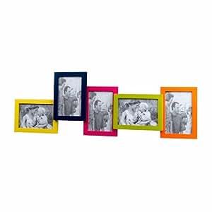 Cadre photo multiple multicolore 67,5 x 22,5 cm