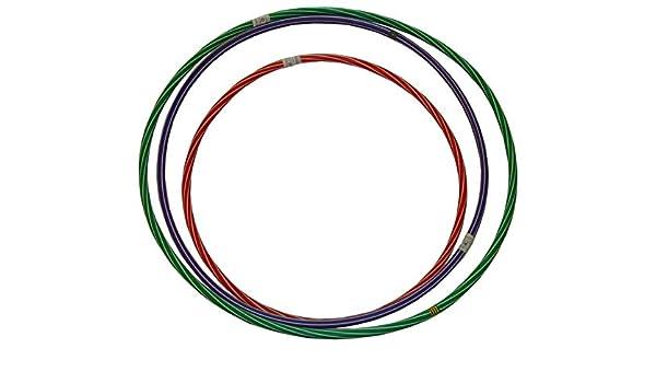 Camicco Hula Hoop Reifen 60cm 10STK Mix Gymnastikreifen Turnreifen Fitnessreifen Kinder