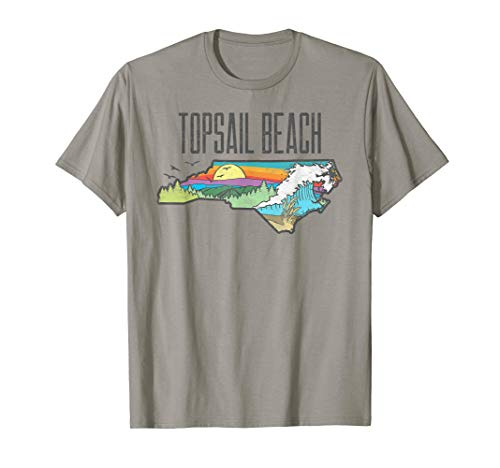 Topsail Beach State of North Carolina Outdoors Graphic  T-Shirt -