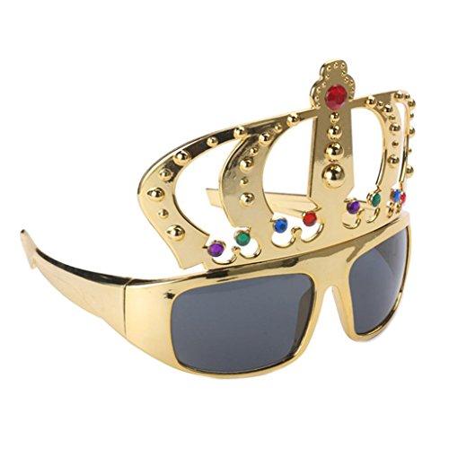 Prettyia Neuheit Gold Krone Geformt Sonnenbrille Partybrille Spaßbrille Lustige Party Brille Foto Requisiten