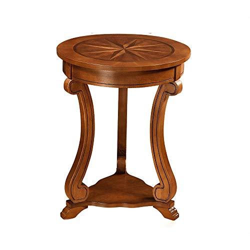 Klapptisch YANFEI, Massivholzkante, Ecke Mehrere Runde Kleine Runde Tabelle Telefontisch Sofa Beistelltisch Couchtisch Mini Couchtisch -
