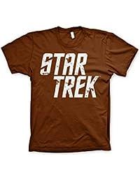 Officially Licensed Merchandise Star Trek Distressed Logo T-Shirt (Black)