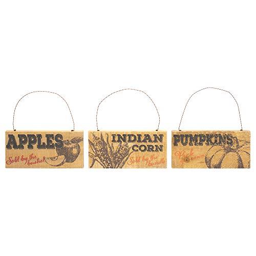 Honig in Me Fruit Stand Äpfel Kürbisse indischen Mais 8x 7,5Palette Ernte zum Aufhängen Schilder Set von 3 Mais-pick-set