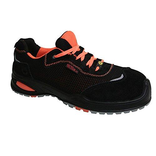 Sanita, Chaussures De Sécurité Pour Hommes, Noir / Orange