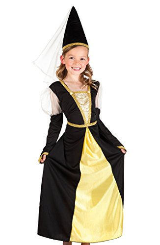 Boland 82232 - Kinderkostüm Lady Isolde, schwarz (Zauberin Kostüm Kind)
