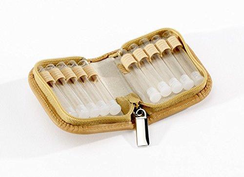Homöopathie Taschenapotheke Klassik mit 10 Klargläsern Leder natur für Globuli (Top Leder Verarbeitetes)