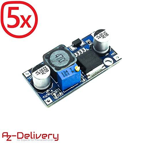 AZDelivery ⭐⭐⭐⭐⭐ 5 x LM2596S DC-DC Netzteil Adapter Step down Modul für Arduino mit gratis eBook! Schaltregler