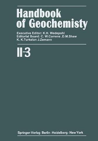 Elements Cr (24) to Br (35) (Handbook of Geochemistry)