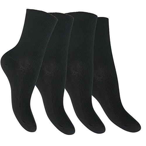 8 Paar Diabetiker Damen Socken schwarz-35-38