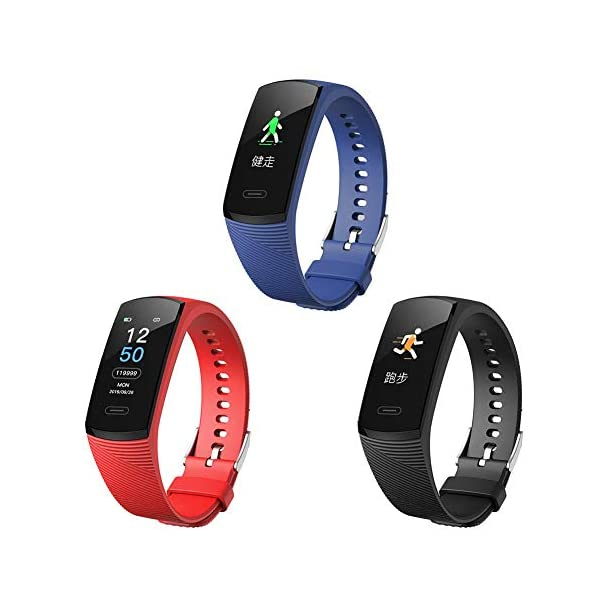 afto mket High-End Fitness Trackers HR, Trackers Activity Health Health Watch con frecuencia cardíaca y Monitor de sueño, Smart Band Calorie Counter, Step Counter, Podometer Walking 1