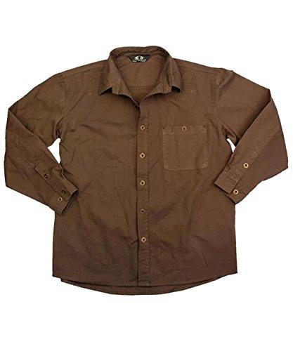 Freizeit- Outdoor Herrenhemd aus robuster Baumwolle in braun, grün und dunkelblau, Langar