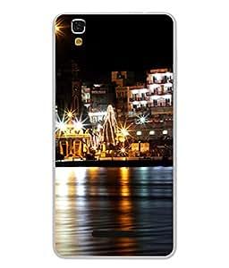 PrintVisa Designer Back Case Cover for YU Yureka Plus :: Yu Yureka PlusYU5510A (The Holy Ganga Flowing By The City Side)