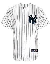 MLB Youth New York Yankees Joba Chamberlain weiß/marineblau pinstrps Home Short Sleeve 6Button Synthetik Replica Baseball Jersey Frühling 2011