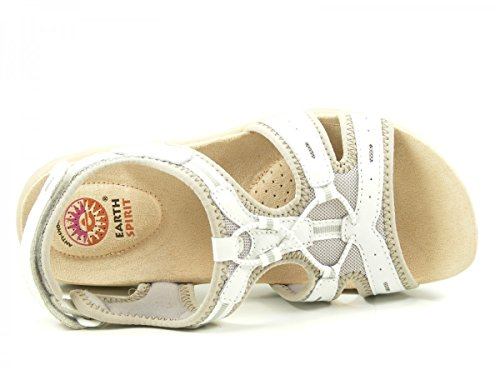 Earth Spirit 37022-15 Carolina 2 Schuhe Damen Trekking Sandalen Weiß
