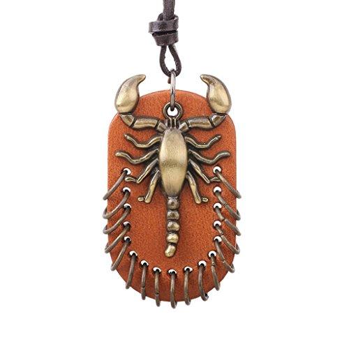 escorpion-punk-unisex-con-flecos-anillos-cuero-marron-cable-caida-etiqueta-collar-bronce-antiguo-reg