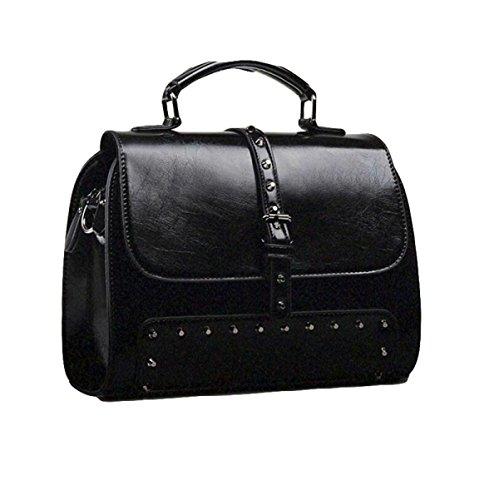 Art Und Weiseschulterbeuteldiagonalpaketlederhandtaschenart Und Weisehandtaschen Wilde Weidennägel Black