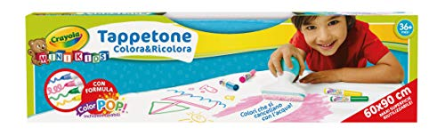 CRAYOLA Mini Kids Tappetone Colora&Ricolora, ad Acqua, Maxi Superficie Riutilizzabile per Disegnare e Colorare, età 3-5 Anni, per Gioco e Regalo,, 04-0034